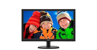 21.5 PHILIPS 223V5LHSB2-01 LED 5ms HDMI,Vga, Vesa Parlak Siyah Monitör
