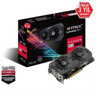 4 GB ASUS ROG STRIX-RX570-O4G-GAMING 256Bit GDDR5 DX12 PCI-E 3.0