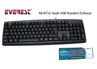 EVEREST KB-871U Q-USB  Standart  Klavye