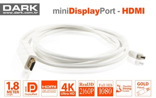 DARK Mini Display Port to HDMI 1.8m Kablo