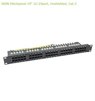 EFB 50 Port Cat 3 ISDN Patch Panel Siyah