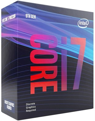 INTEL i7 9700F 3.0/4.7GHz VGAsız, Fanlı 12MB 95W Box 1151P